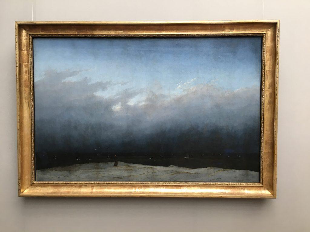 monje mirando el mar de Caspar David Fiedrich