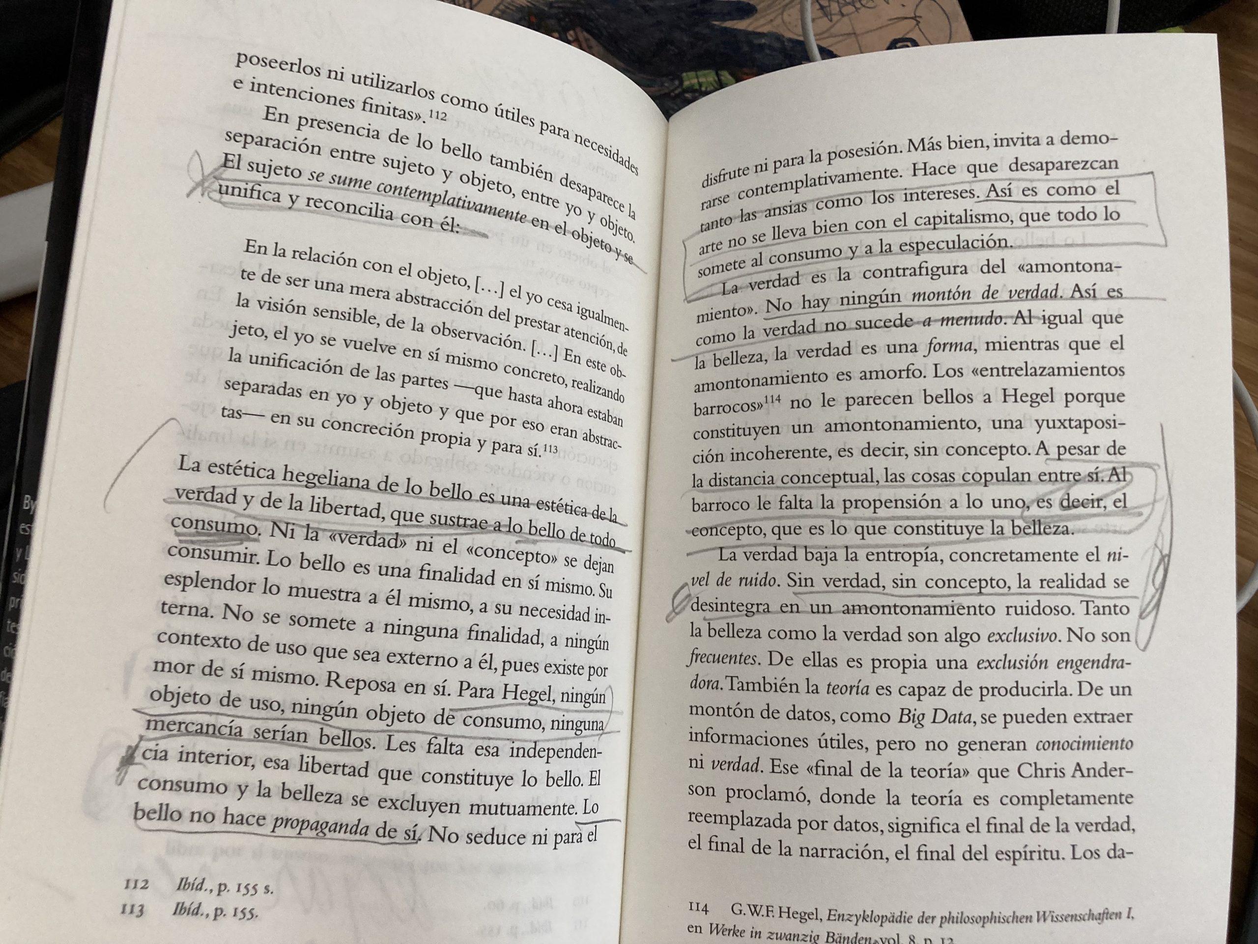 páginas 54 y 55 de la salvación de lo bello